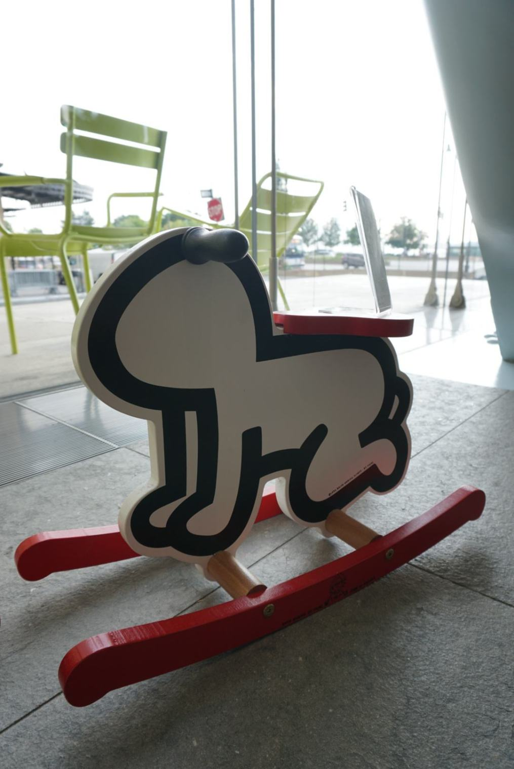 Keith Haring baby rocker (Whitney Museum of American Art Gift Shop)