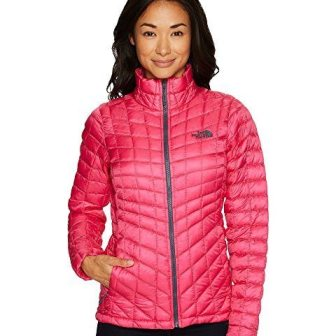 women's slender puffy coat, pink