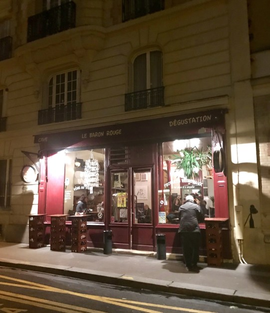 A friend mentioned her favorite wine bar in Paris-- and it just happened to be in our neighborhood.