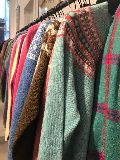 Avoca sweaters at outlet prices at L'Habilleur, Paris in the Haut Marais