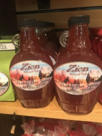 best shopping souvenirs Zion national park gift shop prickly syrup