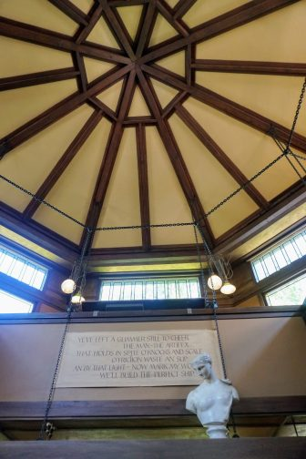 visiting Frank Lloyd Wright's Oak Park home.