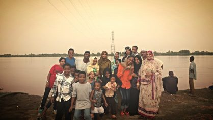 Family outing to the Nile River which runs just across the road from my grandmother's house.