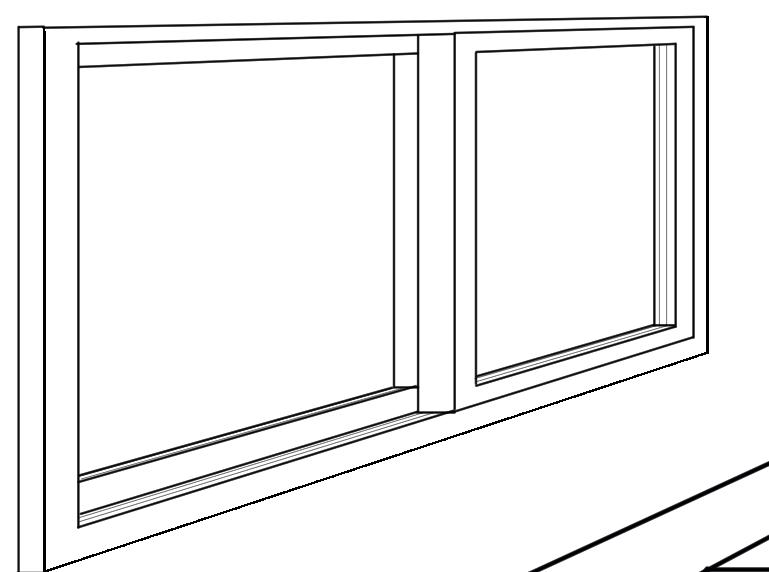 パースを使って教室を描く・一点透視図法70