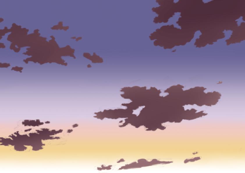 夕空の描き方、書き方7