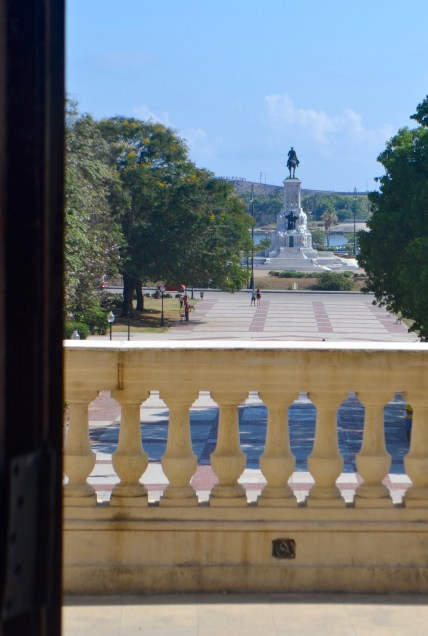 The balcony where Castro delivered many of his most famous speeches