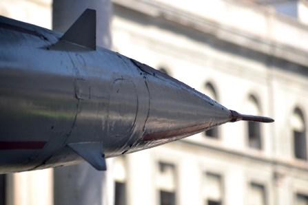 Close-up of the SA-2 missle