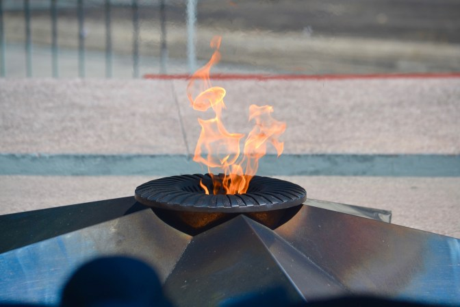 The eternal flame, a memorial to Cuban soldiers lost in battle