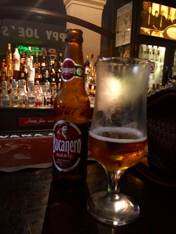 Bucanero is one of the more popular local beers