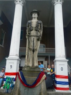 The Grant County Courthouse has a memorial for Petersburg natives lost in battle