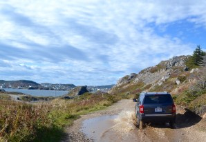 The rental car place in Gander comped us on 4WD...not a bad thing!