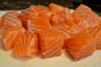 Fresh north Atlantic salmon