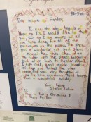 A letter displayed in the museum