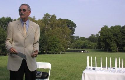 34th Chaplain Jack Rowan at the 2002 Memorial Service, held at the Vietnam Memorial in Washington, DC
