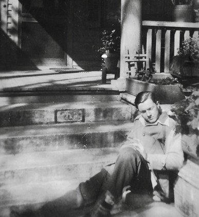 Young Johnny on the porch