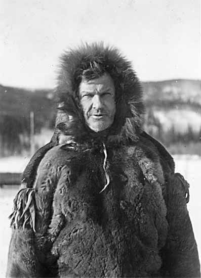 """Percy DeWolfe, the """"Iron Man of the North,"""" in 1938. Photo courtesy of Yukon Archives. Claude and Mary Tidd Fonds"""