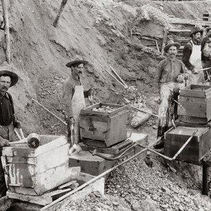 Prospectors hard at work