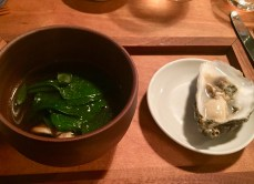 Foraged broth from land and sea, Glenbeigh oyster
