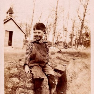A young boy at the mission, early 1900s. Photo courtesy of Larry Lamb