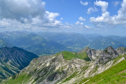 Looking down the valley from the Nebelhorn