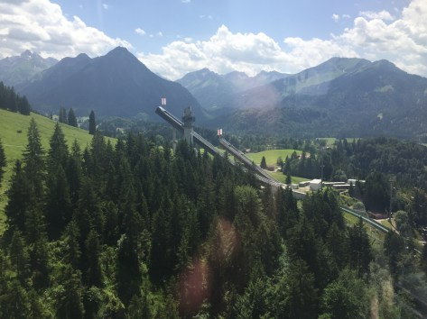 The ski jump, as viewed from the tram