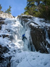 First pitch, Roaring Brook Falls
