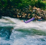Endering (almost) at the base of Nantahala Falls