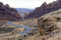 San Rafael Swell and I-70, photo credit Dennis Adams, National Scenic Byways Online - http://www.fhwa.dot.gov/byways/photos/51883