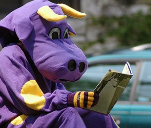 Purple cows are pretty book-smart