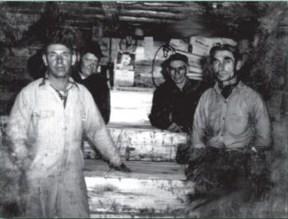 Paul VanLandschoot, Skippy Ghroel, Philip and Joe VanLandschoot in the 1950s. Photo courtesy of VanLandschoot and Sons
