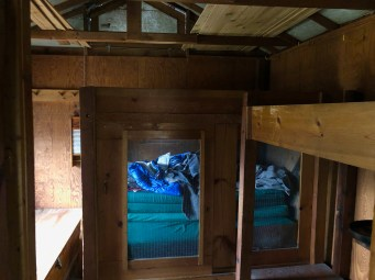 All of the bedding needs to be caged when the cabin isn't being used