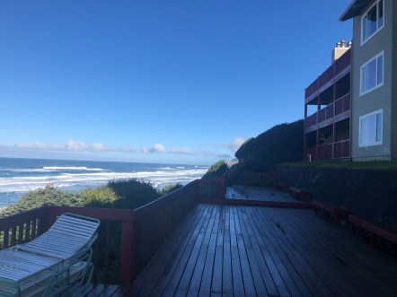 The deck in the morning