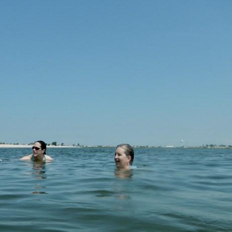 Taking a break from kayaking