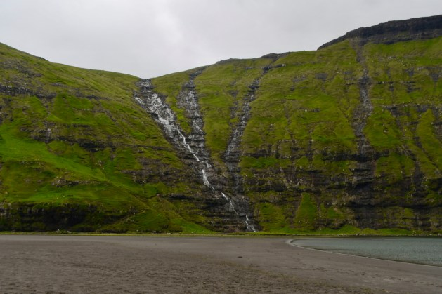 The waterfall along the way