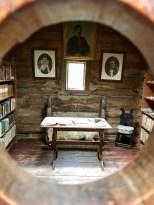 The upstairs room in Kirkjubøargarður