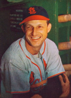 Stan Musial in 1953, from Bowman Baseball cards, public domain