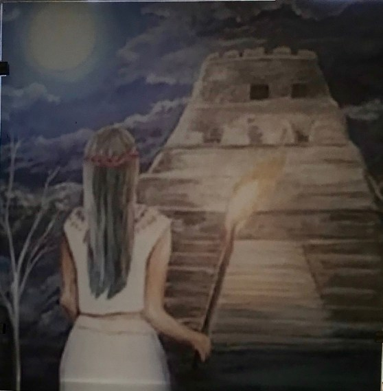 A painting of the Stone Woman