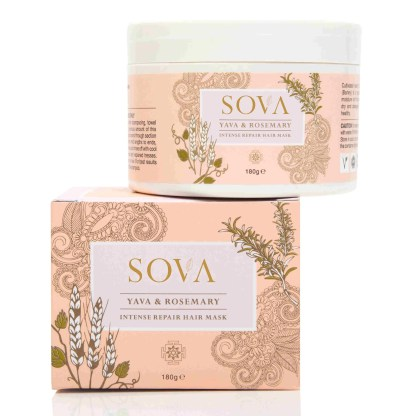SOVA YAVA & ROSEMARY INTENSE REPAIR HAIR MASK FOR ALL HAIR TYPES