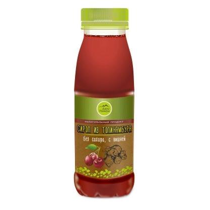 Натуральный сироп из топинамбура без сахара с вишней