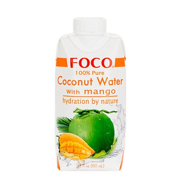 Кокосовая вода с соком манго FOCO 100%