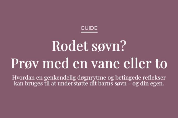 Guide: Rodet søvn? Prøv med en vane eller to