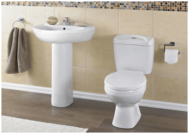 The Berkswell park home interior picture of bathroom with toilet and basin