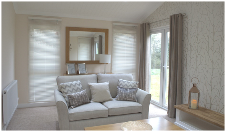 The Heywood - contemporary and luxury residential or holiday home - lounge interior picture with soda and soft furnishings