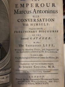 The London Library, Marcus Aurelius, Meditations