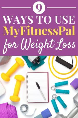 Hand weights, notebook, yoga mat, and other weight loss tools - 9 Ways to Use MyFitnessPal for Weight Loss