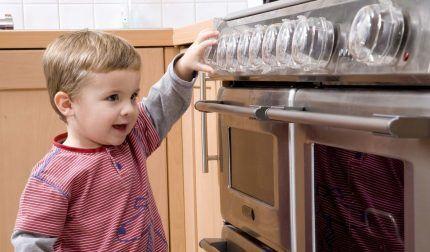 การป้องกันเตาแก๊สจากเด็ก