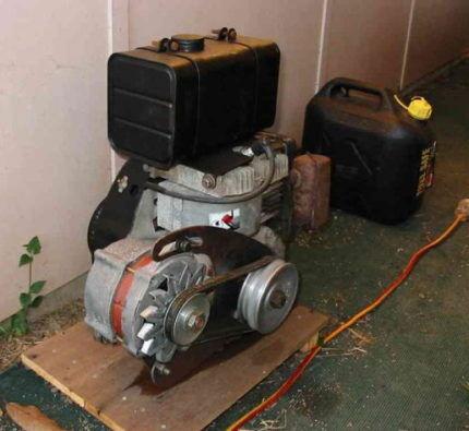Placera en hemlagad generator