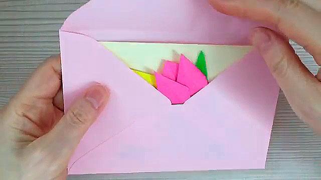 Открытка оригами бабушке на день рождения
