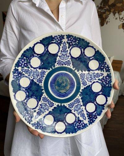 Assiette Propagande – Porcelaine – Etoile bleue