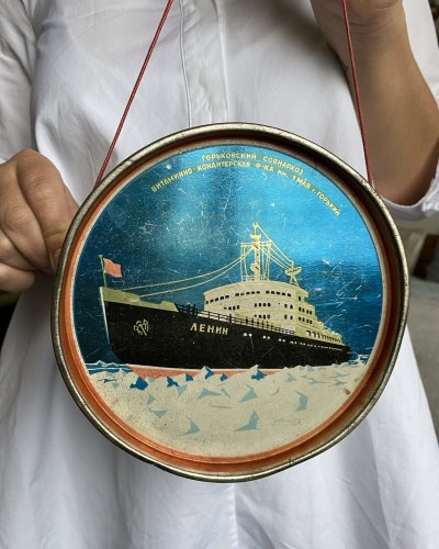 Boite Fer blanc – Lénine – Sputnik – URSS – 1959